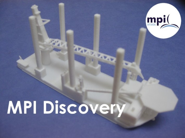 WTIV MPI Discovery (1:1200) 3d printed White, Strong Flexible Material