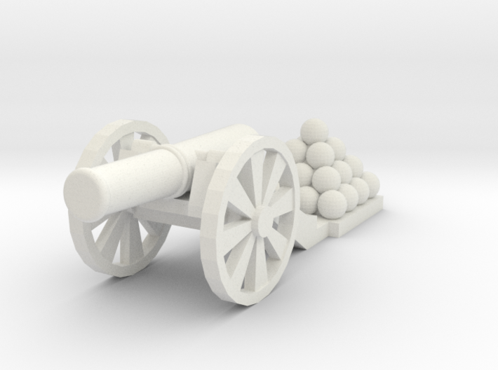 Cannon (Light) - Qty (1) HO 1:87 scale 3d printed