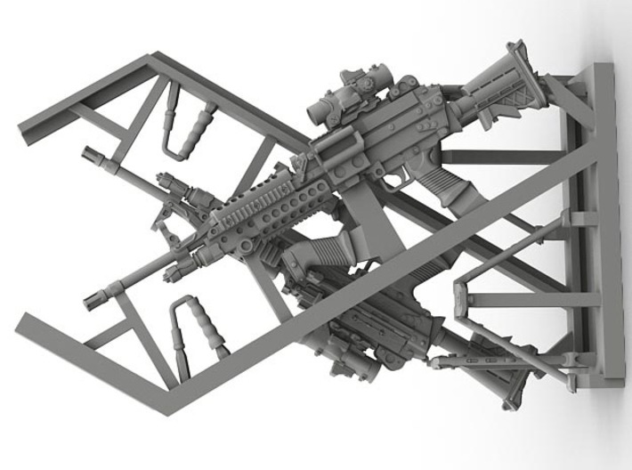 1/16 SPM-16-010 m249 MK48mod0 7,62mm machine gun 3d printed