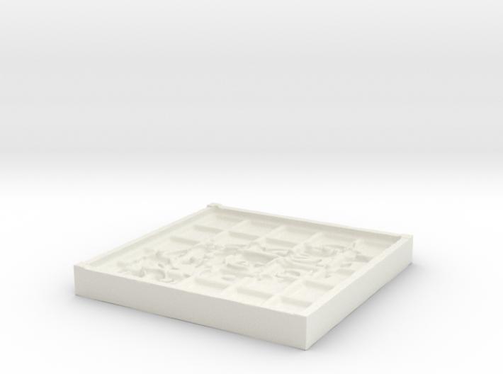 Tribal Beveled Mold 3d printed