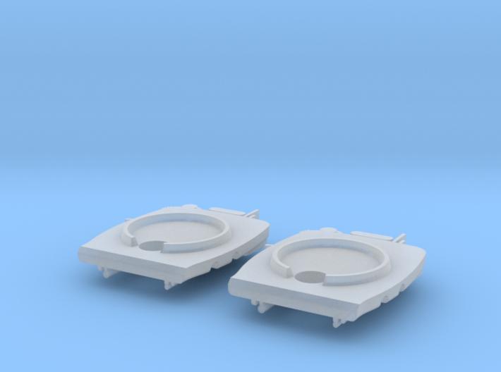GWR standard backhead (x2), 2mm FS 3d printed