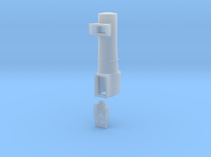 3700 City Class boiler, smokebox, firebox, 2mm FS 3d printed Front rendering