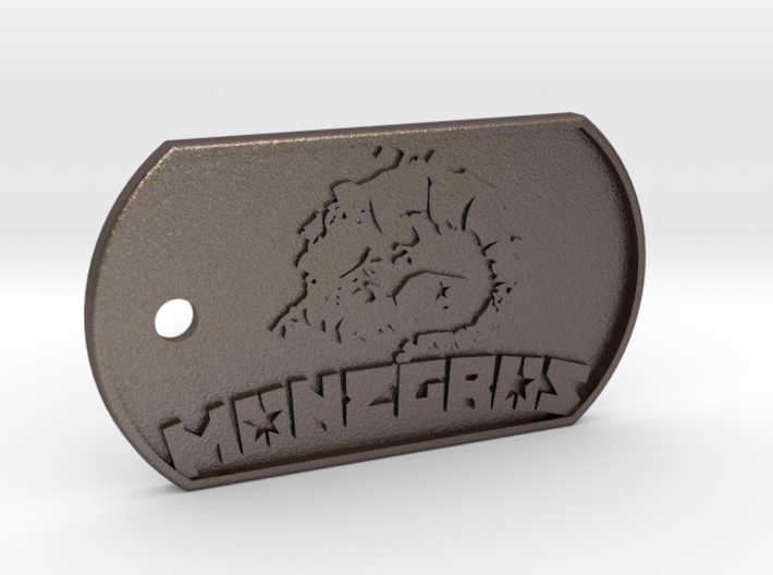 Monegros Dog Tag 3d printed