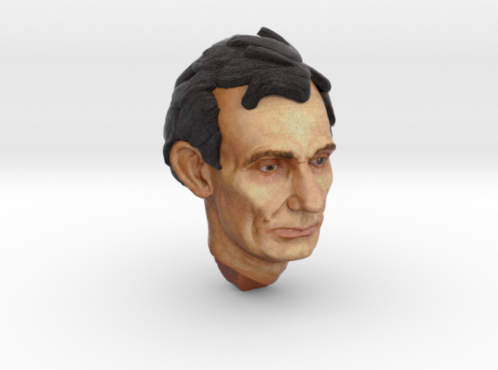 1:6 scale Full Color Abe head 3d printed