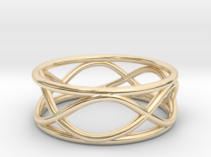 Infinity Ring- Size 5 3d printed
