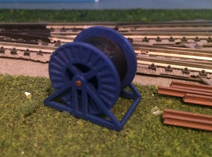 N Scale Steel Cable Reel (Full) 3d printed Steel cable reel in Frosted Ultra Detail