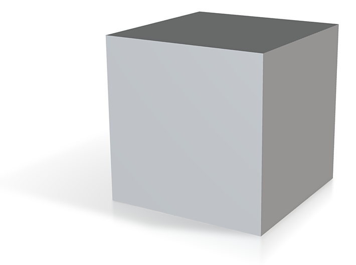 Cube-1cm3-centered In Meter 3d printed