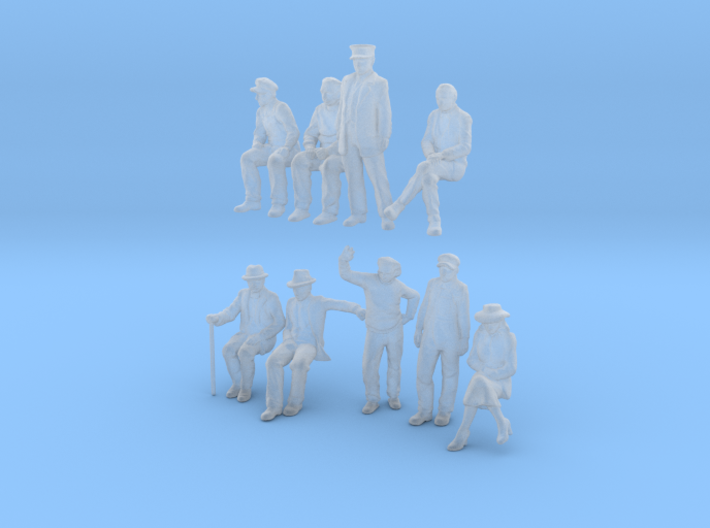 Z SCALE Figure pack #1 3d printed