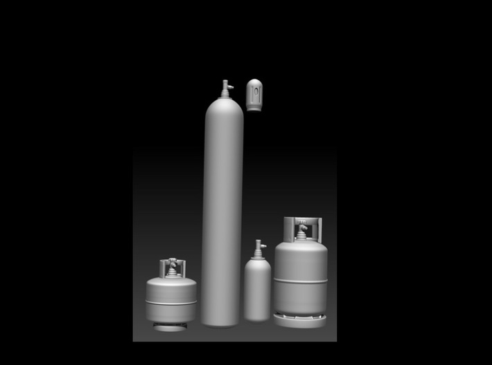1:20 assorted Gas cylinders 3d printed
