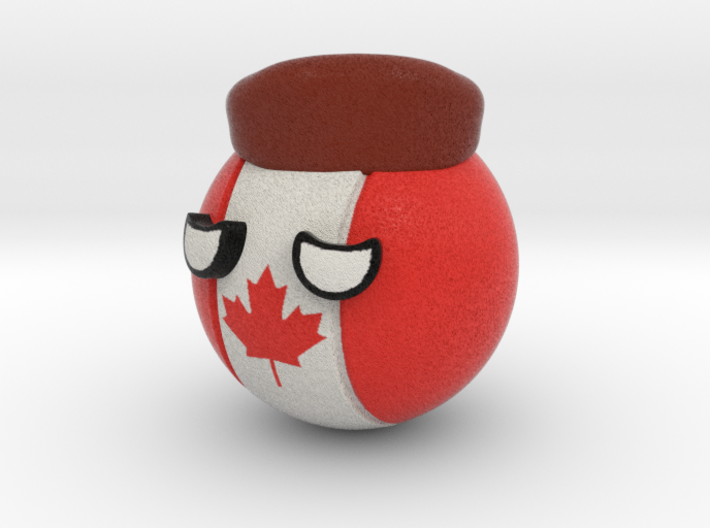 Countryballs Canada with Racoonhat 3d printed Countryballs Canada- Full Color Sandstone