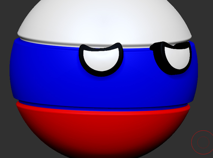 Countryballs Russia 3d printed Countryballs Russia - 3d render