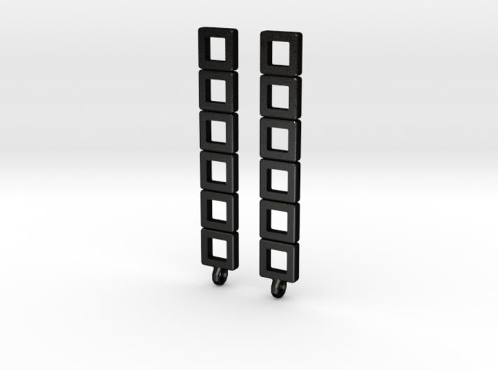 """Earrings - """"Planar"""" 3d printed"""