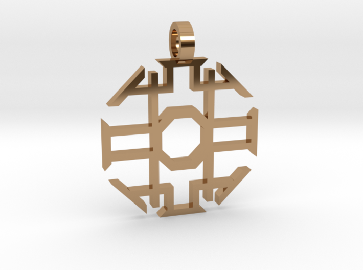 Eight Sided Pendant 3d printed