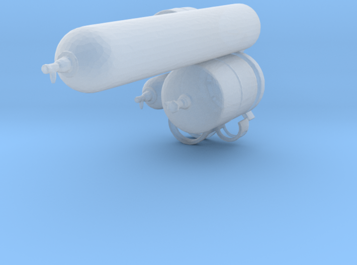 1:64 Gas canisters 3d printed