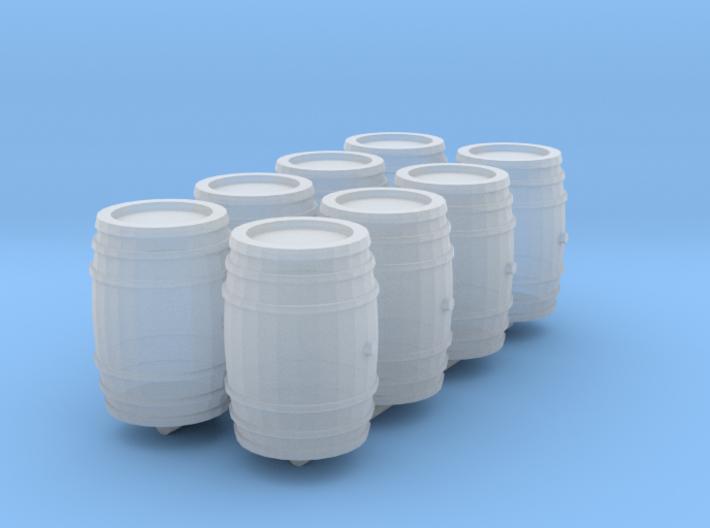 1-87 Whiskey Barrel 3d printed