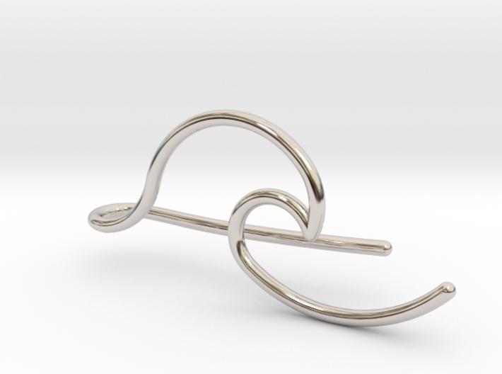 Wave tie bar 3d printed