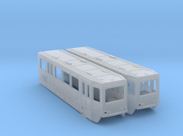 HO Siemens SD160 LRV Bodies 3d printed