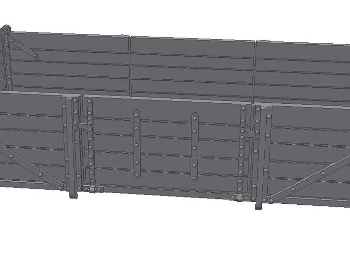 2x 2mm Scale GWR China Clay Wagon Bodies 3d printed