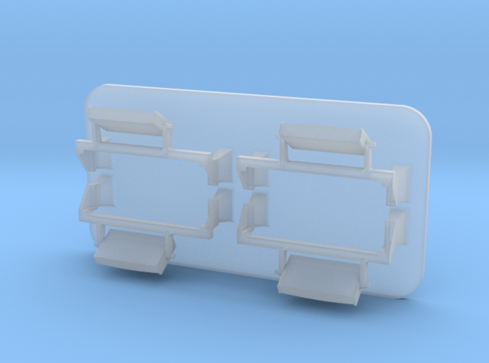 4mm Class 66 Loco Mirrors 3d printed