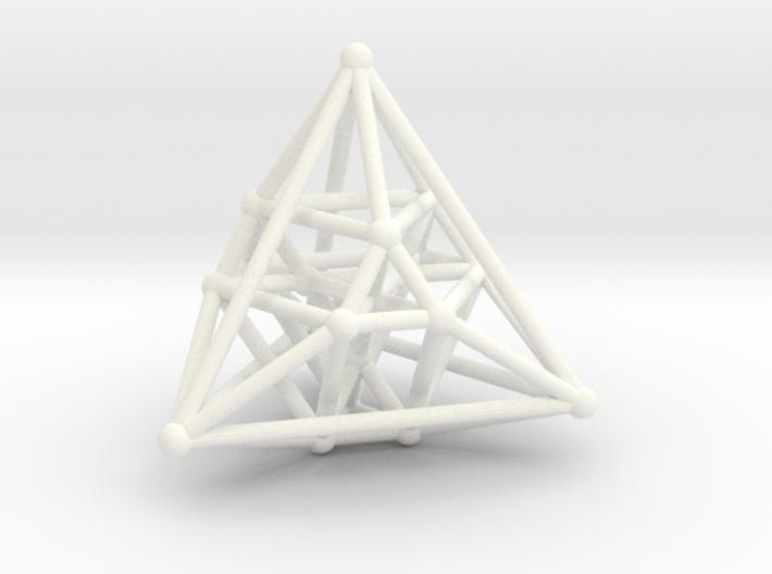 Hyper Tetrahedron Vector Net 3d printed