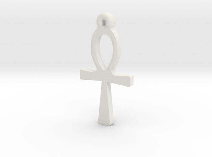 Ankh Pendant 3d printed
