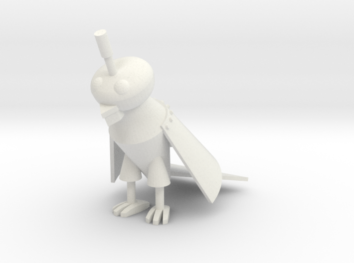 1:6 scale Silver Parrot 3d printed