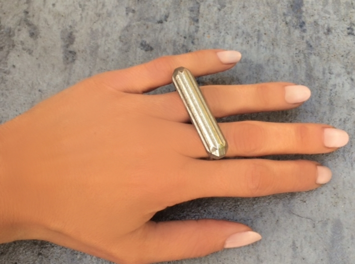 ALLURE double finger ring 3d printed