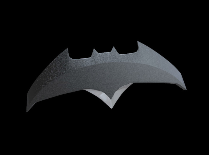 Batarang 2 - Batman vs Superman Dawn of Justice 3d printed This is how the prop appears once painted