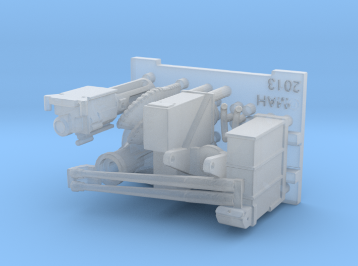 25mm Cannon kit x 1 - 1/96 3d printed