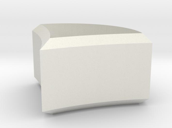 Wall mount pommel decorative skirt piece (pt 2/3) 3d printed