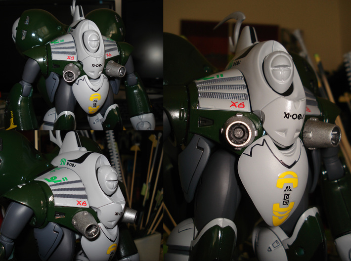 Rau - Head Unit 3d printed NOTE: Visor not installed and lacking panel-lining + matte clear coat