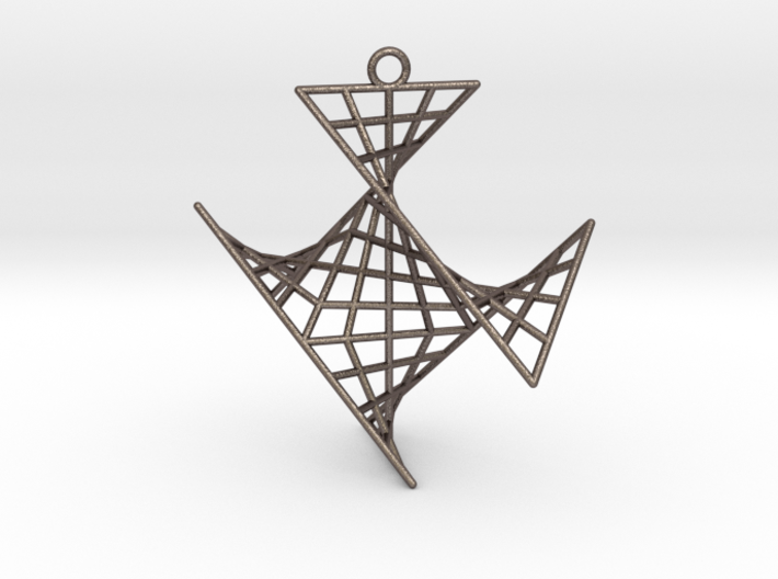 crux_pendant (medium) 3d printed