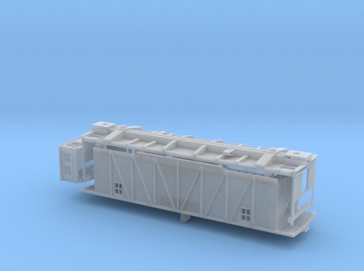 HO CNR Single Sheathed Center Cupola Flanger 3d printed