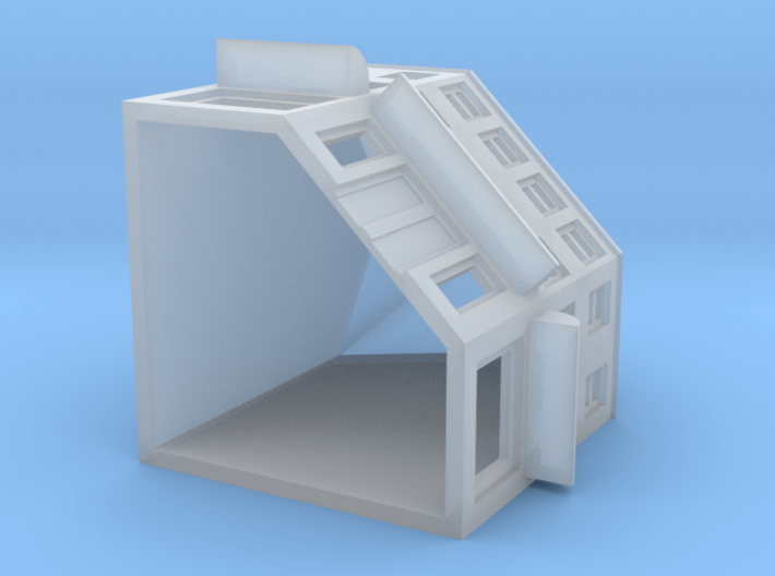 High Street Corner Shop (with Blinds) 3d printed