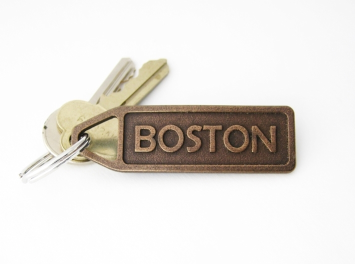 Customized Keychain - Running Keychain 3d printed Personalize your event with this 3D printed keychain.