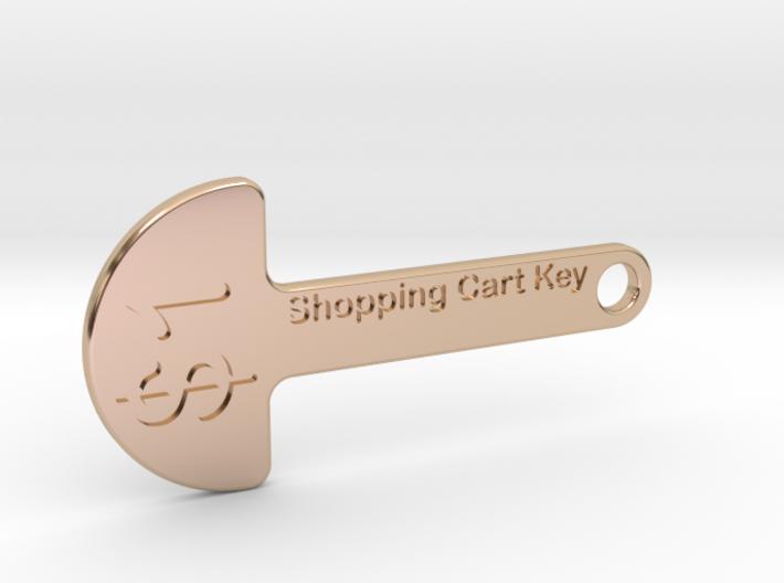 Loonie Shopping Cart Key 3d printed