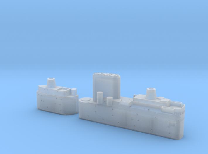 1/700 HMS Malta Island Sections 3d printed