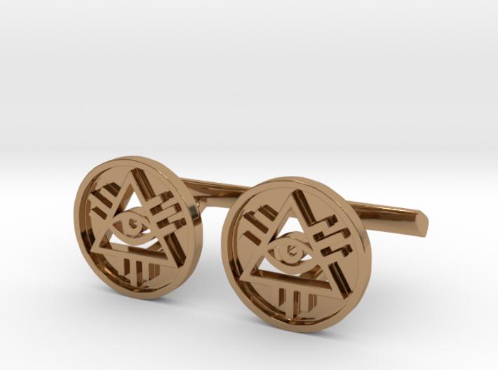 Illuminati Cufflinks 3d printed