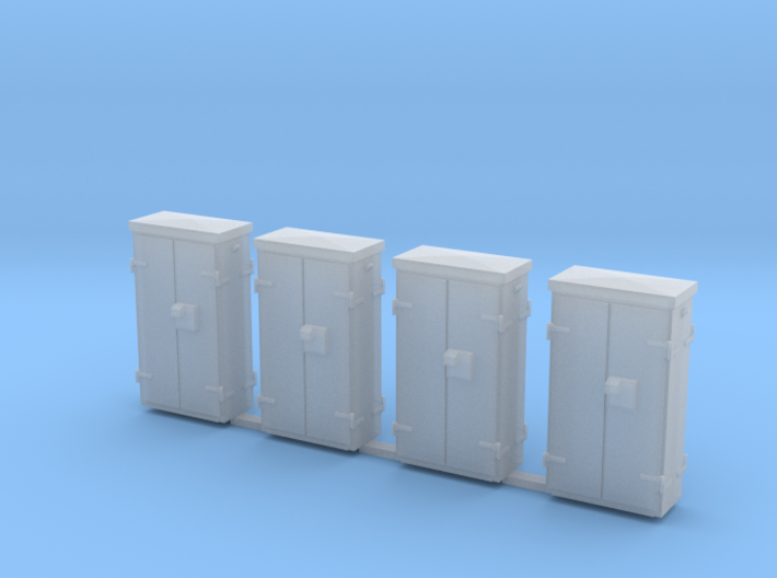 OO Gauge Location Cabinets 3d printed Shapeways render in Frosted Detail