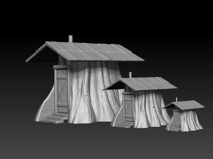 Stump Shack - HO Scale 3d printed