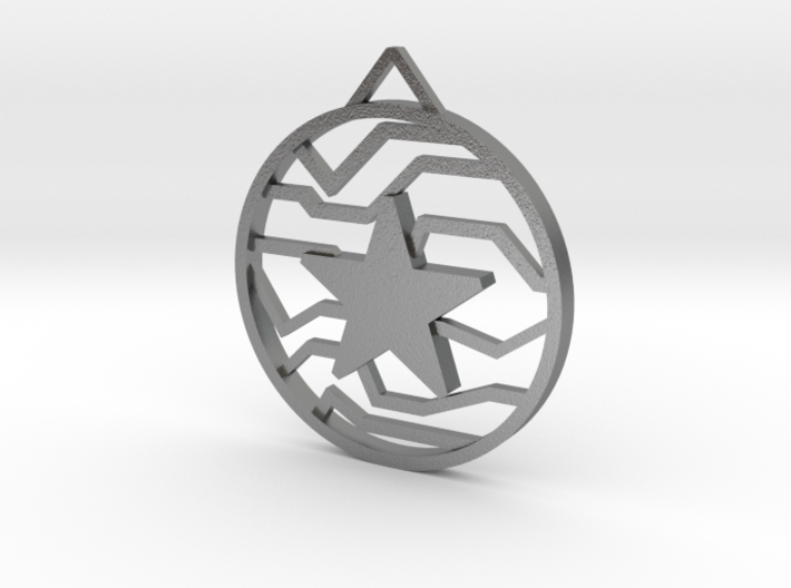 Winter Soldier Star Pendant (Small) 3d printed