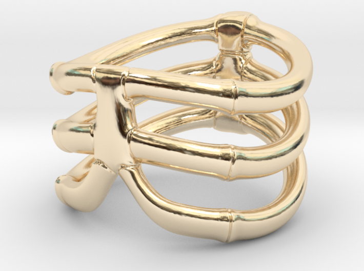 Thorsten 3 Rib - Ring 3d printed Thorsten 3 Rib - Ring - US 8.75