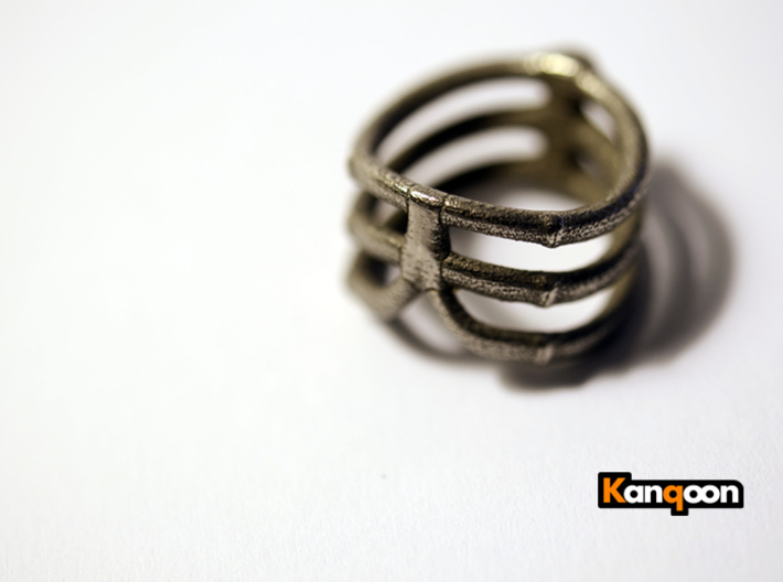 Thorsten 3 Rib - Ring 3d printed Stainless Steel printed Thorsten 3 Rib - Ring - US 8.75