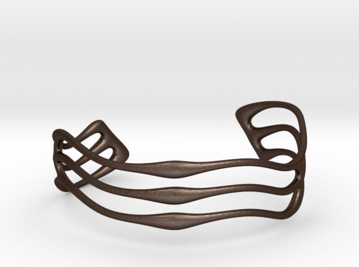 Bracelet Waves #2  3d printed