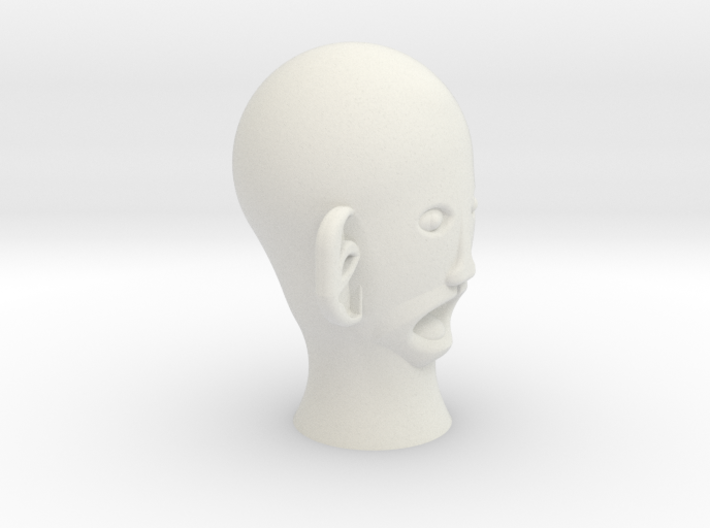 THE CREEPIEST FACE EVER!!!!! 3d printed