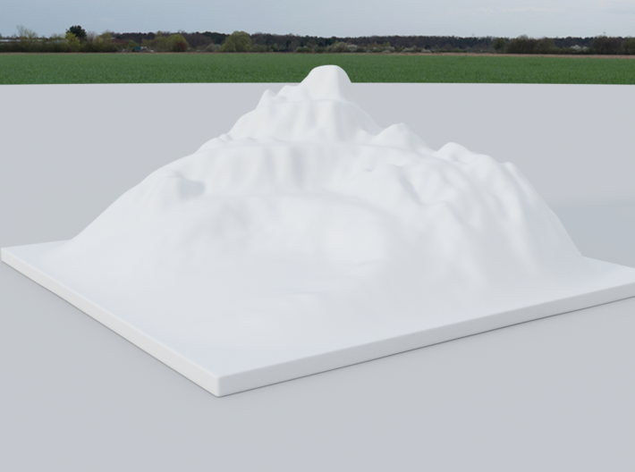Mountain Landscape 1 3d printed White Strong and Flexible of the landscape ( render )