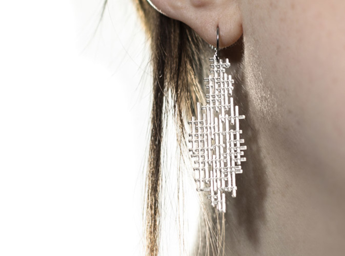 Aragonite Earrings 3d printed