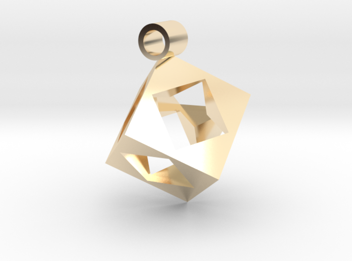 Cube Pendent 3d printed