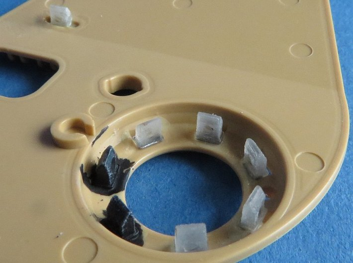 German 1:48 Periscopes  3d printed Inside the cupola