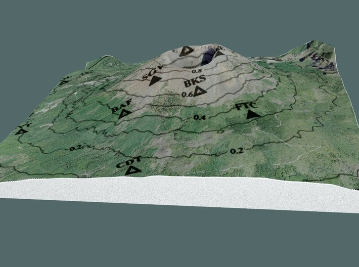 VESUVIUS CONTOUR COLOR BB 3d printed